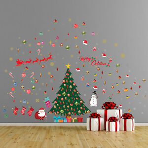 Classic Christmas Wall Stickers Wall Art Diy Art Home Decorations Decals 610877217021 Ebay
