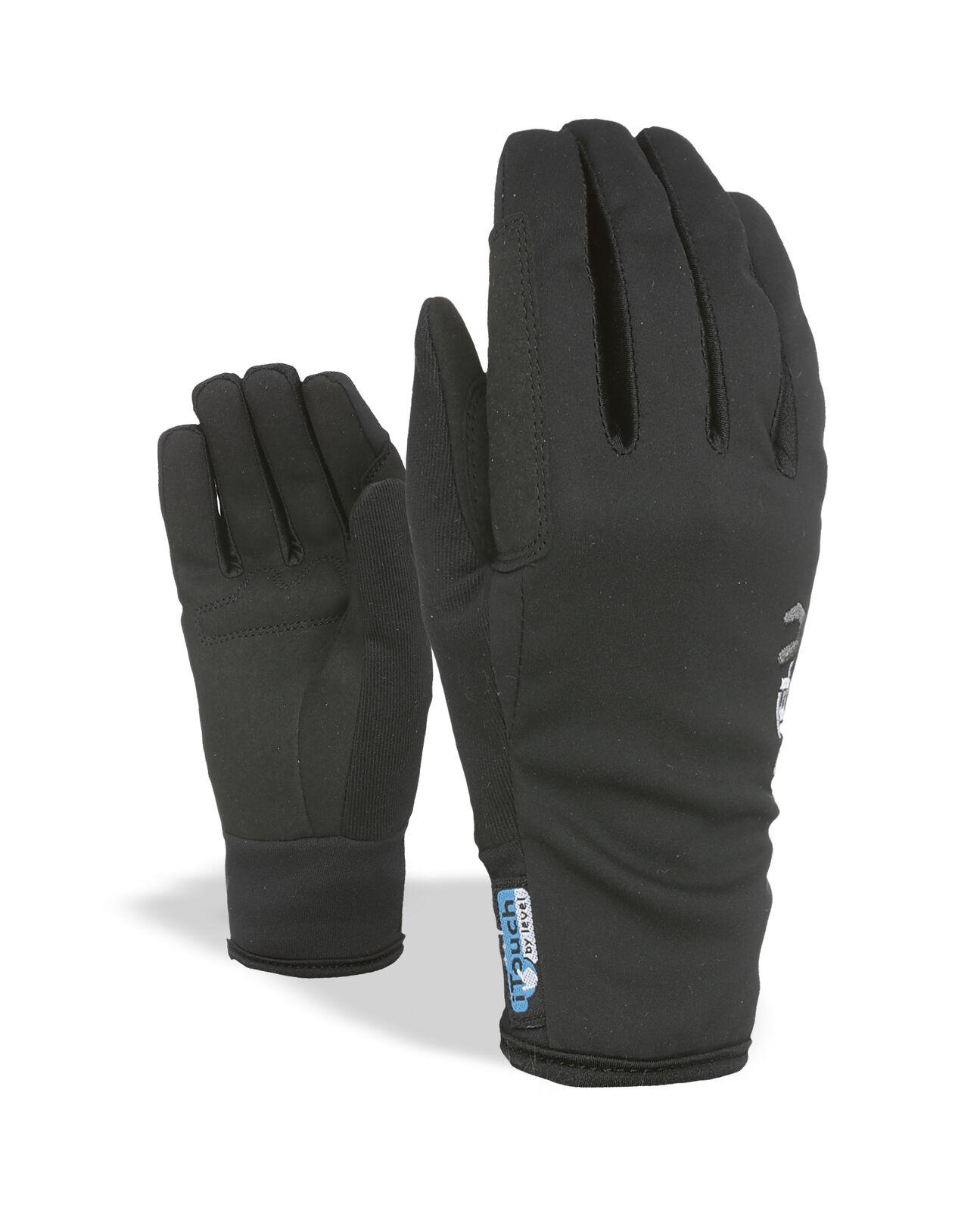 Level Handschuh Touring  black winddicht atmungsaktiv Unifarben  all goods are specials