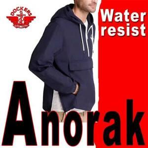 DOCKERS ANORAK TYLER JACKET LIGHTWEIGHT 1/2 ZIP WATER REPEL HOODED WOVEN XL