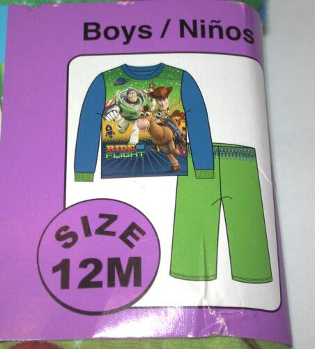 New Boys BUZZ LIGHTYEAR Toy Story 2 piece Soft  Pajamas Sleepwear Set Size12M