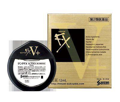 Sante FX V+ Cooling Advanced Eye Drops 12ml Made in Japan New Santen V-Plus