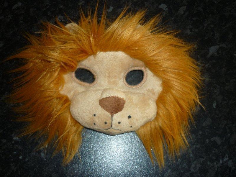 NEW Plush Soft 3D LION MASK WITH EARS MANE Dress ups Costume Halloween Book Week