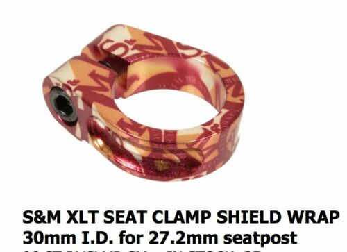 S/&M BIKES XLT SHIELD WRAP SEATPOST CLAMP 30 MM 27.2 30mm RV SEAT POST RACE