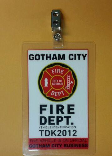 Gotham City Fire Dept Batman  Parking Permit Vehicle Identification prop