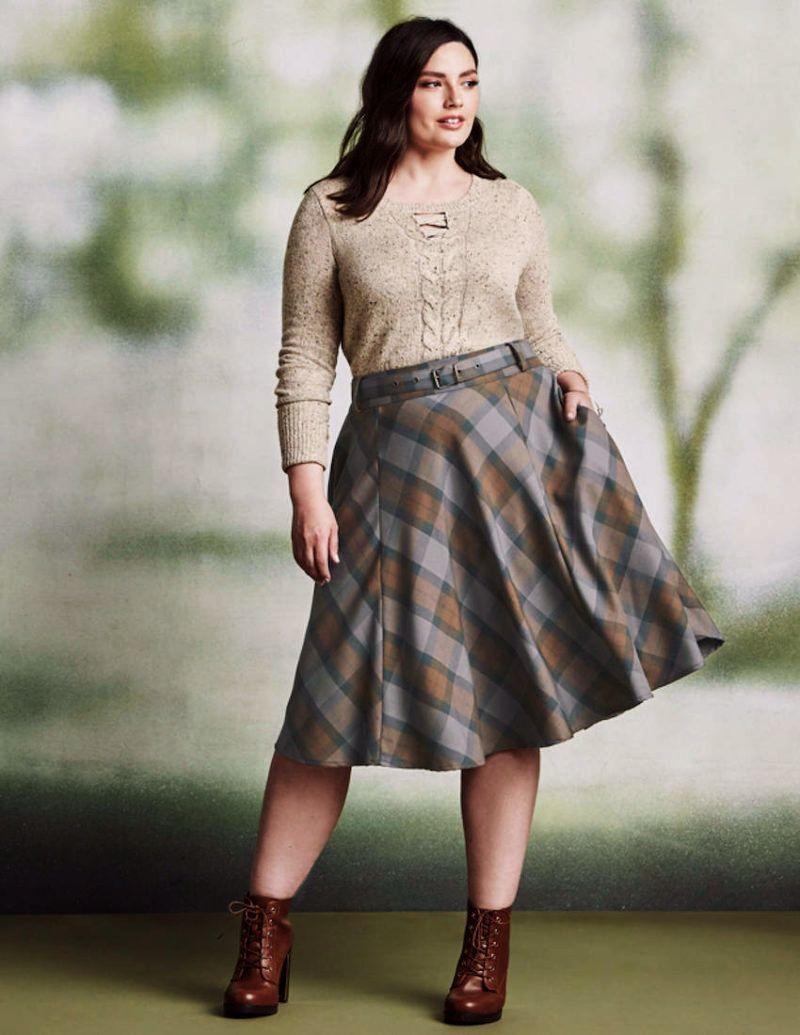 TORRID (1X 14-16) Claire Outlander Full Circle Skirt Tartan Plaid Skirt w  Belt