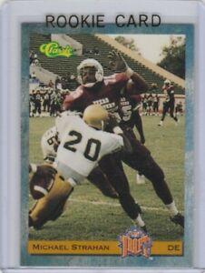 MICHAEL-STRAHAN-ROOKIE-CARD-1993-Classic-College-Football-RC-New-York-Giants-HOF