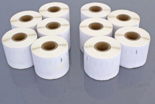 10 ROLLEN ETIKETTEN weiss 54x101mm für DYMO LabelWriter 99014
