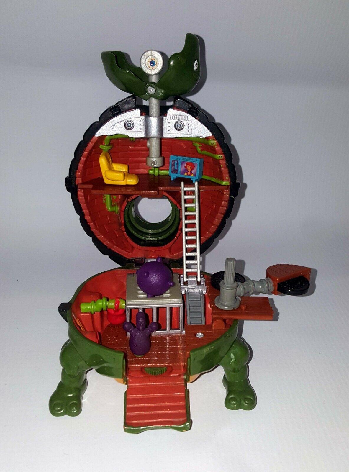 TMNT Mini Mutants Leo Lair Playset 1994-95 Vintage w  Accessories