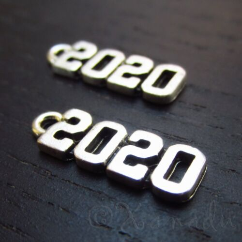 20mm Silver Plated Pendants C3866-10 20 Or 50PCs Year 2020 Charms