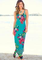 Kaleidoscope Aqua Floral & Paisley Maxi Summer Beach Maxi Dress RRP £45 10-22