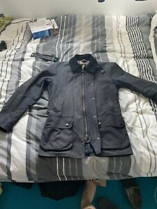 Barbour-Ashby-Wax-Jacket-Navy-Size-Small