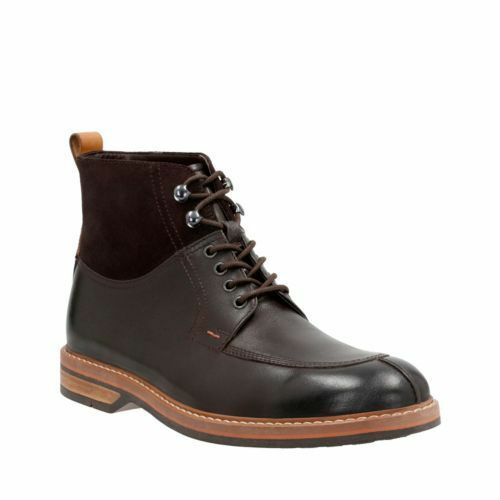 Clarks Mens  Pitney Hi braun Leather  lace-up Stiefel UK 7 7.5