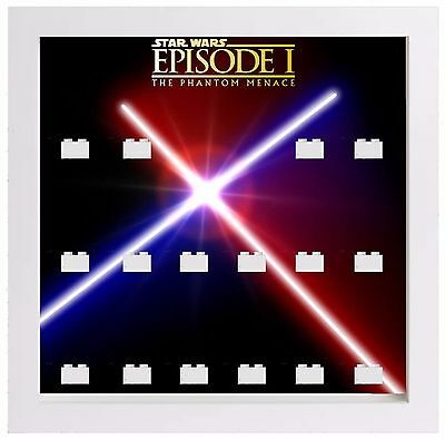 Lego Star Wars The Phantom Menace Minifigures Display Case Picture Frame