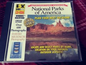 RARE-National-Parks-of-America-1993-PC-CD-Rom-Computer-Software-Gold-Series