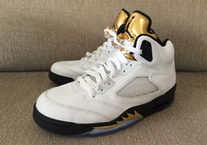 Details Jordan 5 Air 136027 Size V Gold 7 Medal 133 Retro About Olympic 5 Nike LMUzSpVGq