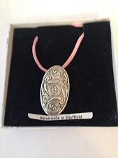 Celtic Shield PP-G36 Motif Pewter  PENDENT ON A PINK CORD Necklace