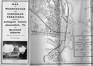 L.B. Prince Street Map Of Washington D.C. 1948   eBay on