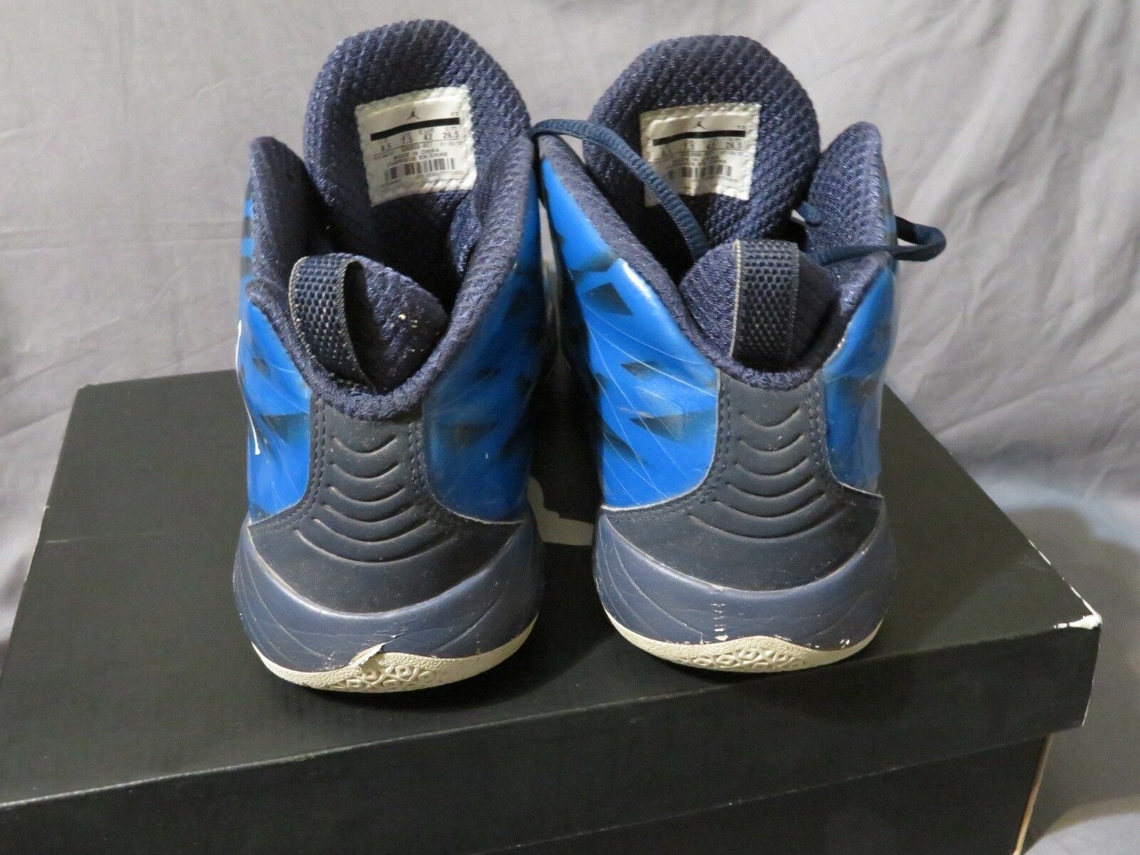 männer - air jordan 2012 lite ev schuhe foto blau 535859 - weiß - schwarz 535859 blau 407 größe 8,5 527f3c