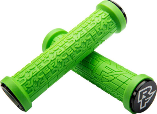 RaceFace Grippler Grips Green Lock-On 30mm Flangeless Bicycle Grip Double Lock