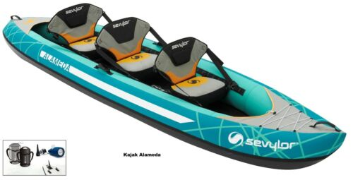 Bootsport Ruder- & Paddelboote Sevylor Alameda Paddel K-Perf 230 K-Compact 230 Pumpe Kajak Kanu Schlauchboot