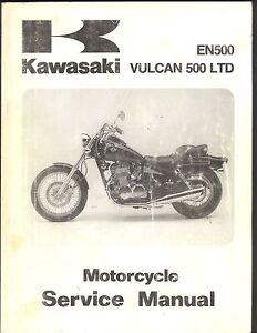 1996 kawasaki en500 vulcan 500 ltd motorcycle service shop manual rh ebay com 2009 kawasaki vulcan 500 ltd owners manual 2002 kawasaki vulcan 500 ltd service manual