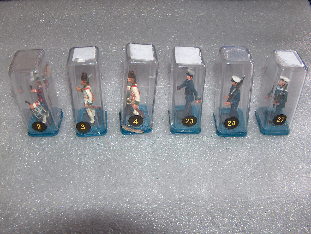 6 VINTAGE MD OLYMPIC GAMES,BARCELONA'92 COLLECTOR'S LEAD SOLDIERS FIGURES,SEALED