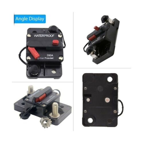 ANJOSHI 300 Amp Circuit Breaker 20A-300A with Manual Reset Waterproof Inline ...