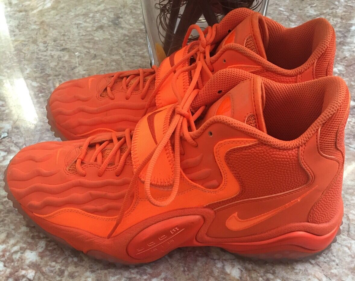 Nike Air Zoom Turf Jet 97 Men's Orange Athletic Shoes Size 11.5 - 621957-888 EUC