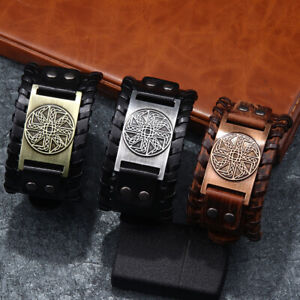 Fashion-Wide-Cuff-PU-Leather-Bracelets-Wristband-Bangles-Gifts-for-Men-or-Women