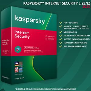 Kaspersky Internet Security 2020 DE [1PC / 2PC / 3PC / 5PC / 10 GERÄTE / KEY ]