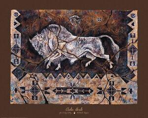 Spirit-Of-Wakan-Tanka-Art-Print-by-Cecilia-Henle-Bison-Buffalo-Native-American
