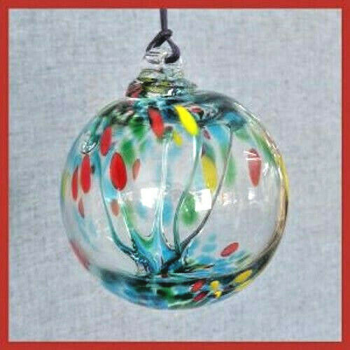 Hanging Glass Ball 6 Diameter Summer Tree Witch Ball (1) #25
