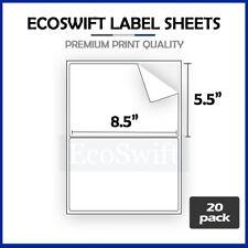 40 85 X 55 Xl Premium Shipping Half Sheet Self Adhesive Ebay Paypal Labels