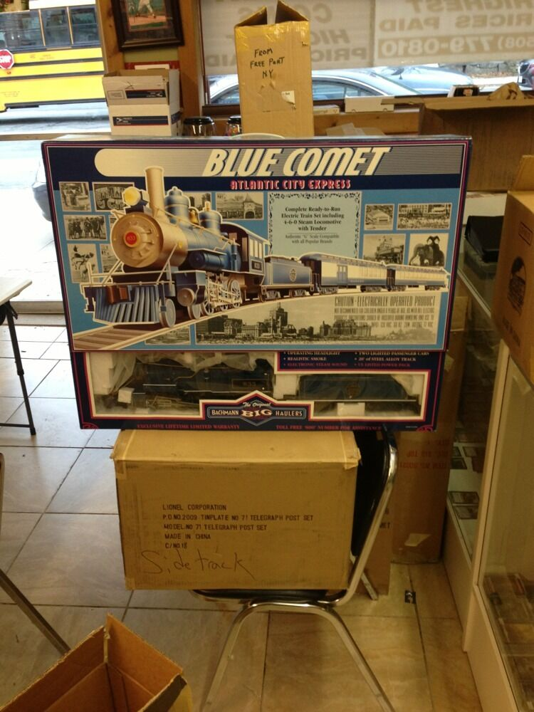 bluee Comet Atlantic City Epress 4-6-0 Steam Locomotive With With With Tender G Scale NIB ce1d4d