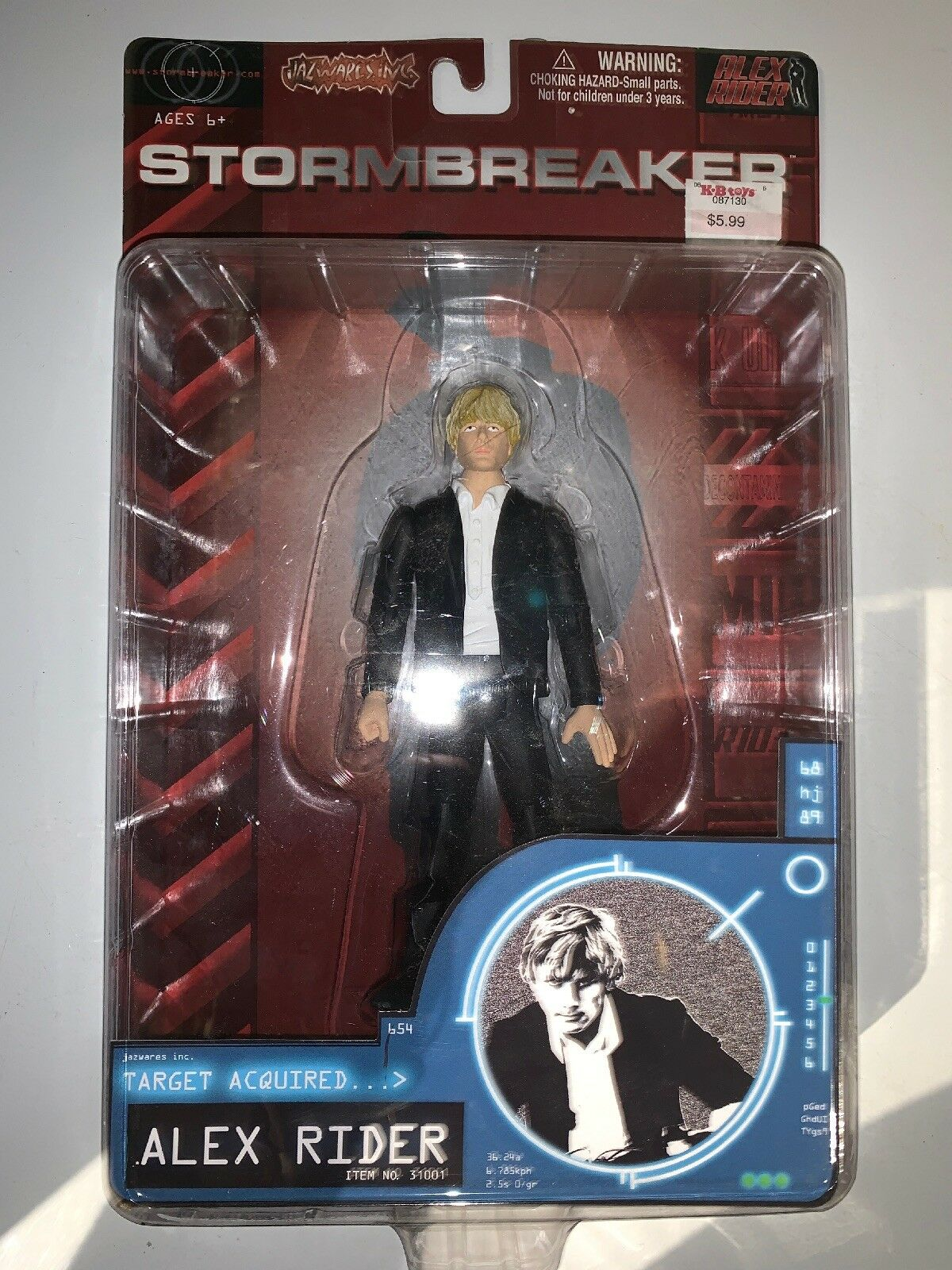 2006 Jazwares Inc STORMBREAKER Alex Rider Action Figure 6""