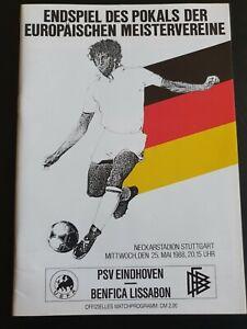 1988 EUROPEAN CUP FINAL - PSV Eindhoven 🇳🇱 v Benfica 🇵🇹 | eBay
