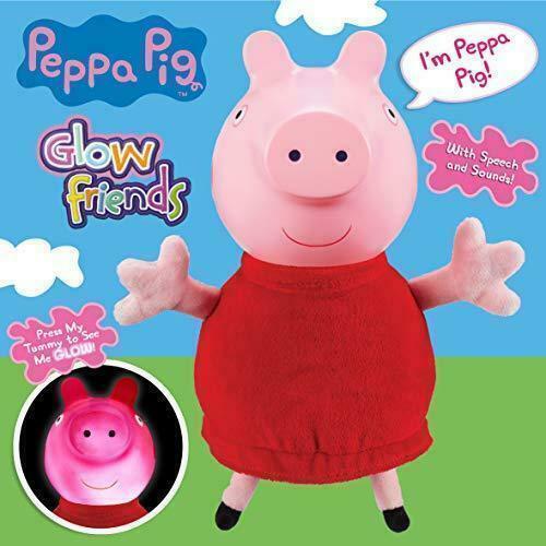 New Peppa Pig Talking Glow Peppa Medium Plush Toy