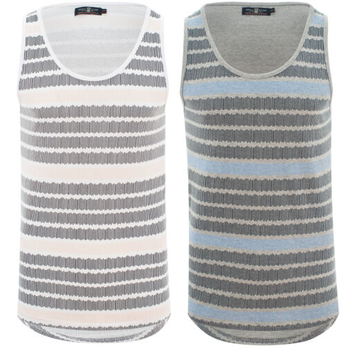 Mens Multi Lined Striped Print Vest