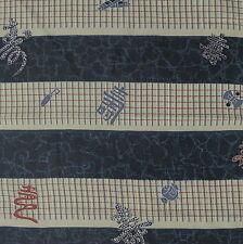 2 pcs 35x100cm Kotobuki Borders Kimono Lining Silk Fabric  - AX97