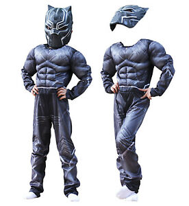 Simile-Black-Panther-Costume-Carnevale-Bambino-Uomo-Cosplay-Costume-BLACKP01-CL