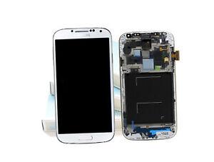 Original SAMSUNG Galaxy S4 Weiss i9505 LCD Display Rahmen Bildschirm Frontglas