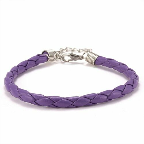 Women Twisted Braided Leather Bracelet Friendship Jewelry Party Best Gift Lucky