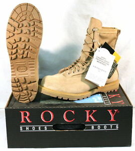 13c60d3f2b0 Details about New US Military ROCKY 790 ICB Goretex Combat Boots Vibram  Sole TAN 12.5 W Wide