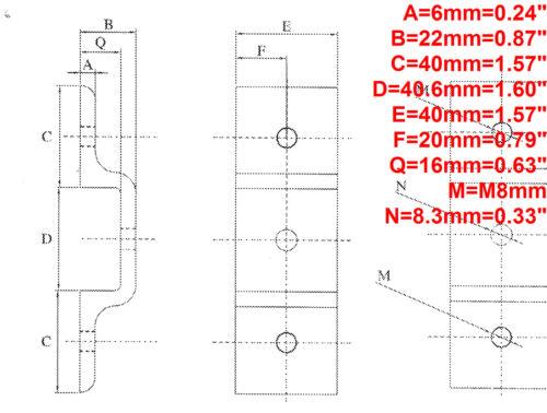 Screws T-nuts 4-set Aluminum T-slot 40x40 profile panel mount Double Retainer