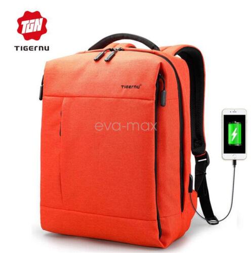 Tigernu New USB Charge Laptop Business Backpack Anti-theft Men Women school bag
