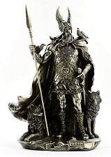 Odin Figur Göttervater Figur Statue Veronese  Wikinger Allvater Odin bronziert
