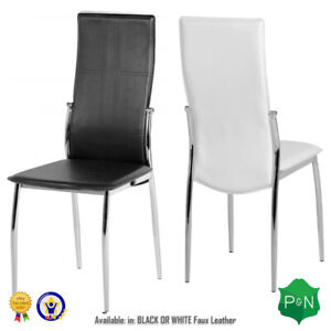 Pair-Berkley-Chair-in-Black-or-White-Faux-Leather-with-Chrome-Legs-Dining-Chair