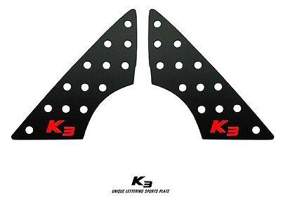 A Pillar Sport Plate Garnish Black Red For KIA 2014 2016 FORTE K3 YD Cerato