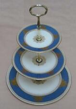 "Wedgwood ""Columbia"" (Blue, W100) THREE TIER CAKE STAND"