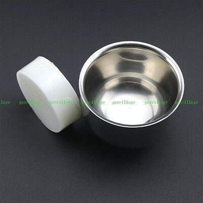 7.2cm Double Layer Stainless Steel Shave Brush Mug Bowl Free Shaving Soap 1.68OZ